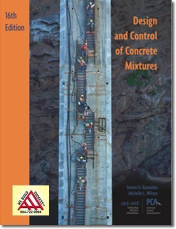 Design Amp Control Of Concrete Mixtures 16th Edition Aaa